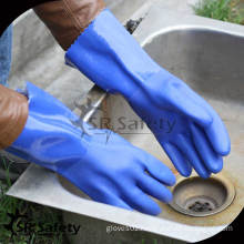 SRSAFETY Terry cloth knitted liner for winter chemical pvc gloves