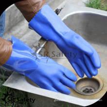 SRSAFETY Тканевый трикотаж для зимних химических перчаток из ПВХ