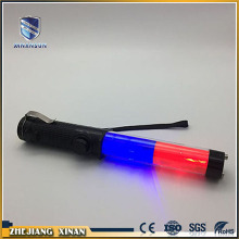 cheap flash multi-function blue red traffic baton