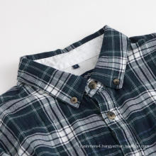 Men's Long Sleeve Shirt Collar Check Cotton Shirts