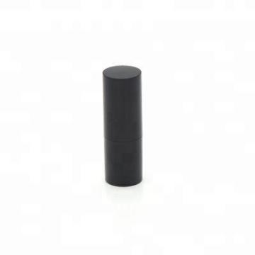 Gros noir 15g vide design personnalisé baume à lèvres en plastique récipient