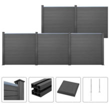 Easy Installation Wood Plastic Composite WPC Fencing