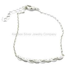 Jóias de prata, conjunto de jóias de bronze, colar pulseira (kt3033w)