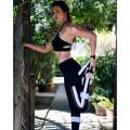 Hole Black Hollow Sport Fitness Pants Yoga Leggings (3053)