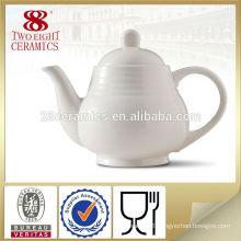 Pure white oriental cheap tea post wholesale tea pot from Guangzhou