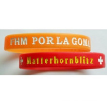 Elastomer Debossed Silicone Wristband for Promotion