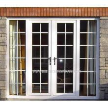 Защитные замки с двойным стеклом Французские алюминиевые двери
