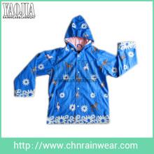 Yj-1101 Veste de pluie bleue pour enfant Kidsjs Parka Kids Rain Coats