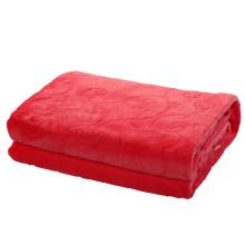 Stock rote Farbe Flanelldecke 200 * 230