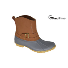 Women′s Ankle Low Winter Snow Boots with Buckle