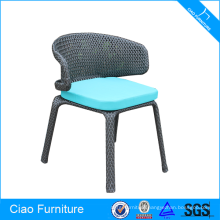 Synthetic rattan armless chair