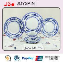 Цветочный круглый ужин набор с керамикой