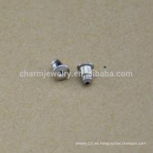 BXG037 Pendientes Resultados Pendientes de seguridad de oído Color original 304 Acero inoxidable quirúrgico Tuercas