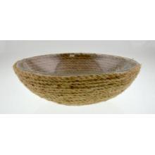 Стеклянная чаша с ковриком для конопли