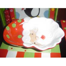 Cadeau de Noël en céramique Santa Dish