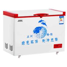 Одноконтурная однотемпературная верхняя открытая морозильная камера с одной дверцей