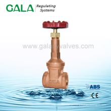 RS bronze válvula de porta roscada, torneiras de metal válvula de portão