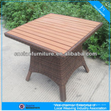 Modern square table garden set for outdoor