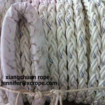 68mm polyester rope with splice eyes