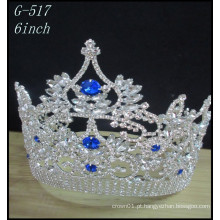Atacado Casamento Prata jóias Tiara crianças princesa coloridas coroas