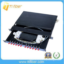12 12 core optical distribution box/ patch panel Preloaded with FC Connectors