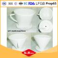 4,5 pulgadas de porcelana de cerámica en forma de V aromatizado taza de café filtro de café de cerámica
