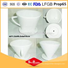 Filtro de café de cerámica de cerámica de porcelana de 4,5 pulgadas