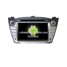 Quad core! DVD de coche con enlace de espejo / DVR / TPMS / OBD2 para pantalla táctil de 7 pulgadas con cuatro núcleos 4.4 Sistema Android HYUNDAI IX35