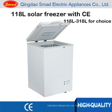 congelador de cofre de helado profundo accionado solar