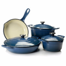 Non-stick 4pcs Cast Iron Pot Cookware Set