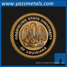 personalizar las medallas de metal, alta calidad personalizada Grambling medalla de la universidad estatal