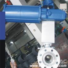 Pneumatic Operated Full Bore RF Flanged Top Entry Ball Valve