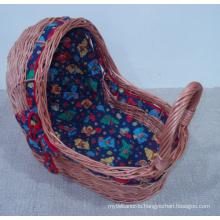 (BC-BA1004) Handmade Willow Sleeping Baby Basket