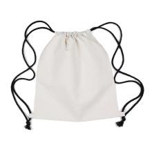 Логотип пользовательские холст рюкзак drawstring хлопка