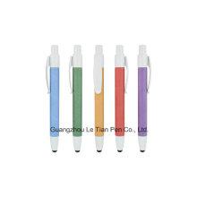 Eco-Friendly Pen Push Papier Stift Stylus Gummi Griff Stift für Promotion Lt-L436