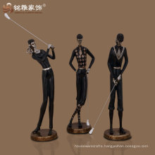 modern looking customize acceptance male female golf player sculpture