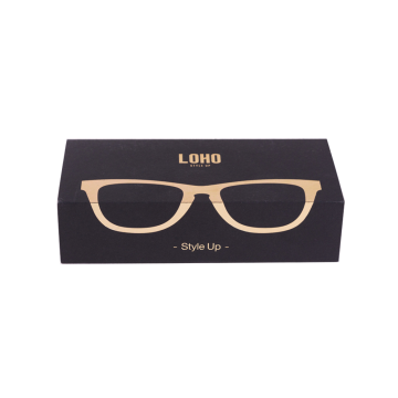 Paquete de gafas Logo Design Black Packaging Box