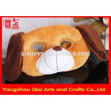 Al por mayor máscara de perro de peluche de forma de animal de fiesta para niños