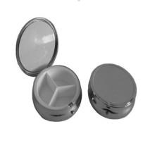 Large Round Shaped Metal Pill Box (BOX-02)