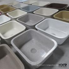 Évier de cuisine de surface solide de variété Modèles de Pierre artificielle de Kingkonree