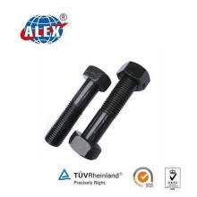 Hex Bolt with Nut Plain Oiled for Railroad