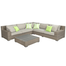 Открытый сад мебель из ротанга Wicker диван гостиной набор