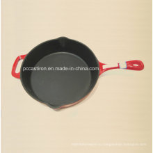 Сковорода для чугуна с эмалевым покрытием с ручкой Dia