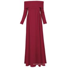 Kate Kasin Sexy Womens Maternity Long Sleeve Off Shoulder Long Maxi Dress Wine Red Maternity Dress KK000677-1