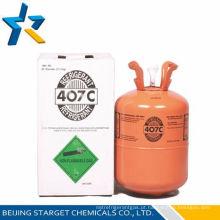 Gás refrigerante R407c com cilindro descartável de alta pureza R407c 11,3kg / 25lb Y