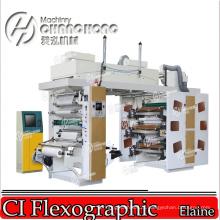 Mini Ci (Central Drum) Flexo Printing Machine with Video Inspect