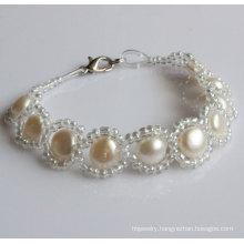 100% Natural Freshwater Pearl Bracelet (EB1530-1)
