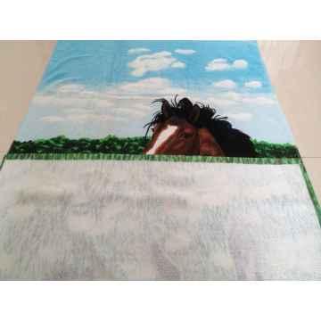100% algodón impreso terry terry toalla de playa