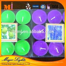 Bougie de bougie parfumée de haute qualité de vente chaude dans des tasses en aluminium