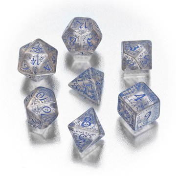 Custom Polyhedral RPG 7-Die Set, 7pcs RPG Game Dice Set